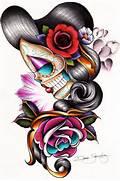 Day Of The Dead Girl Skull Designs
