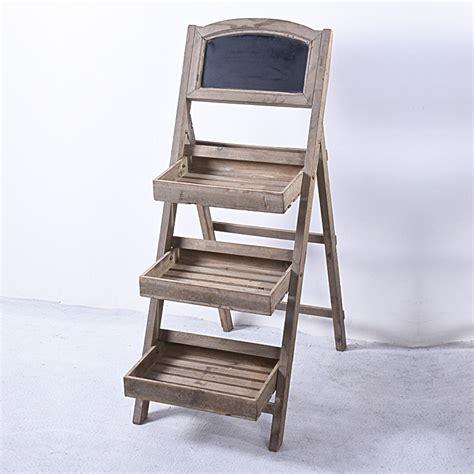 vintage  tier wooden display shelf  chalkboard buy display shelf wooden display shelf
