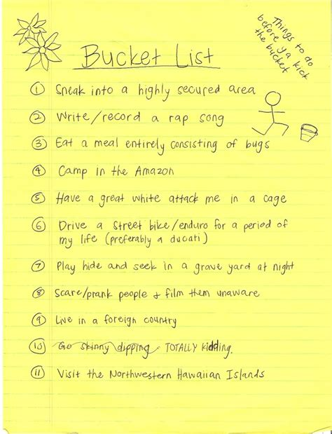 bucket list my list quotes quotesgram