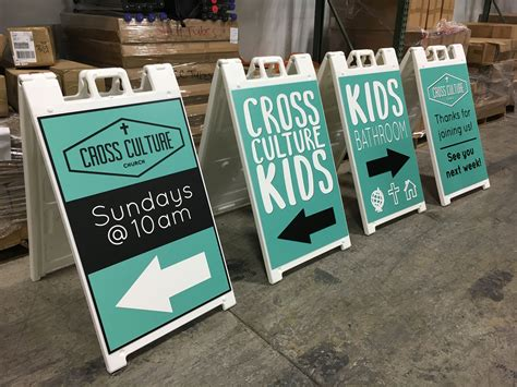 Cross Culture Church (denver) Uses Sidewalk Signs For