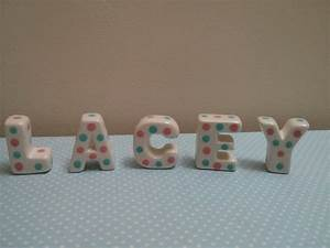 ceramic letters lollipops and ladybirds With ceramic letters