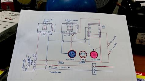 hvac system interlock wiring diagram in hindi youtube