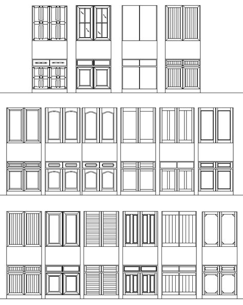 Cabinet Drawings Autocad Plans DIY Free Download Simple