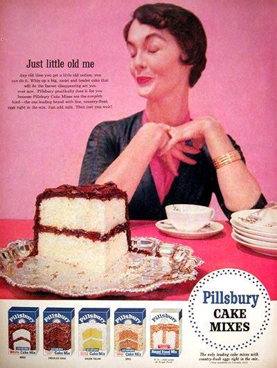 pillsbury cake mix classic vintage print ad