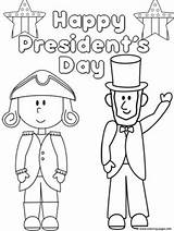 Presidents Coloring Happy Pages Printable Print sketch template