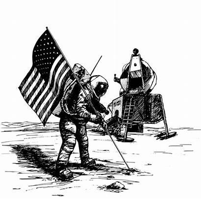 Moon Apollo Landing Nasa Usa Vector Space