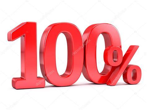 Red 100 Percent Sign — Stock Photo © Sashkin7 #96020734