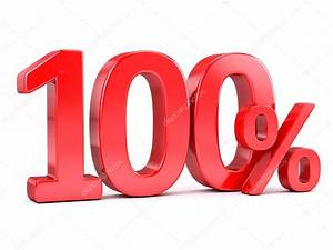 Red 100 percent sign — Stock Photo © Sashkin7 #96020734