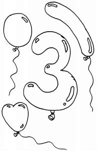 Los numeros Dibujos para colorear Ciclo Escolar