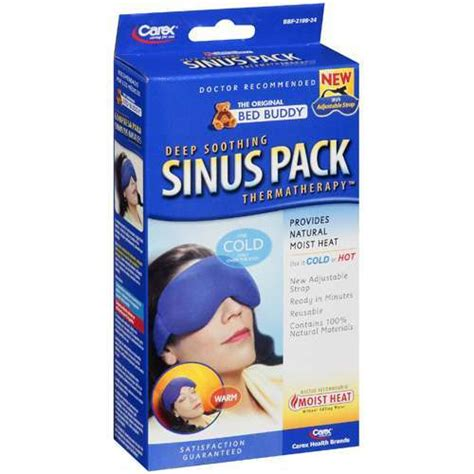 carex bed buddy reusable hot cold packs sinus mask w