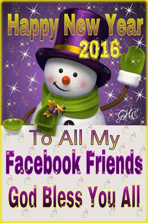 Happy New Year 2016 To All My Facebook Friends Pictures, Photos, And Images For Facebook, Tumblr
