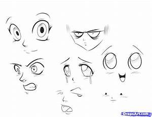 How to Draw Anime Expressions, Step by Step, Anime Heads ...