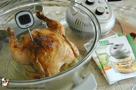 what temperature to cook chicken whole chicken cooked in big boss oil less fryer pocket change gourmet
