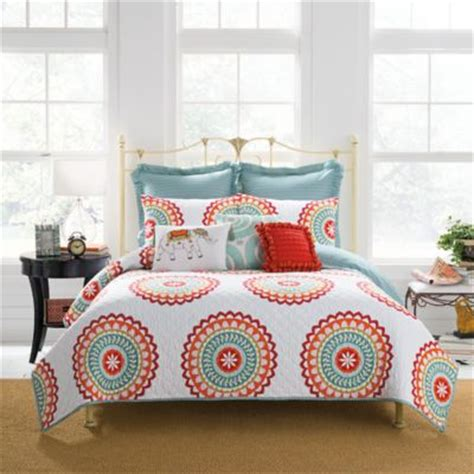 anthology bedding buy aqua and coral bedding from bed bath beyond