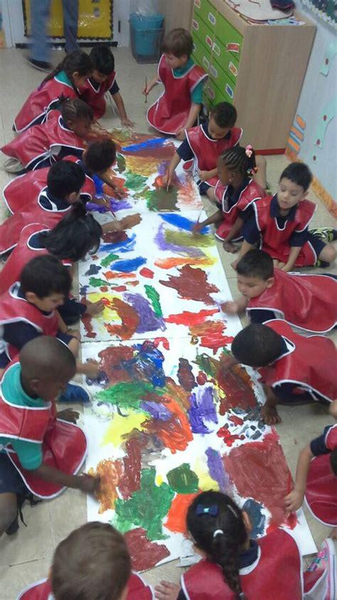 aris news reception class pyp abstract art project
