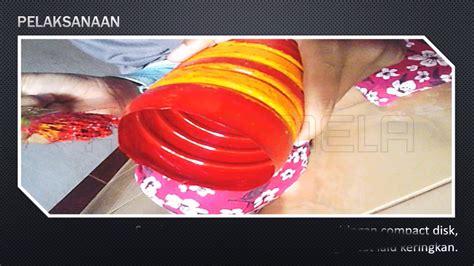 membuat vas bunga  compact disk  botol plastik