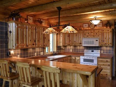 log house kitchen ideas log cabin kitchen cabinets quotes