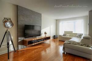 Décoration De Salon : mur de salon en bois de grange ~ Nature-et-papiers.com Idées de Décoration