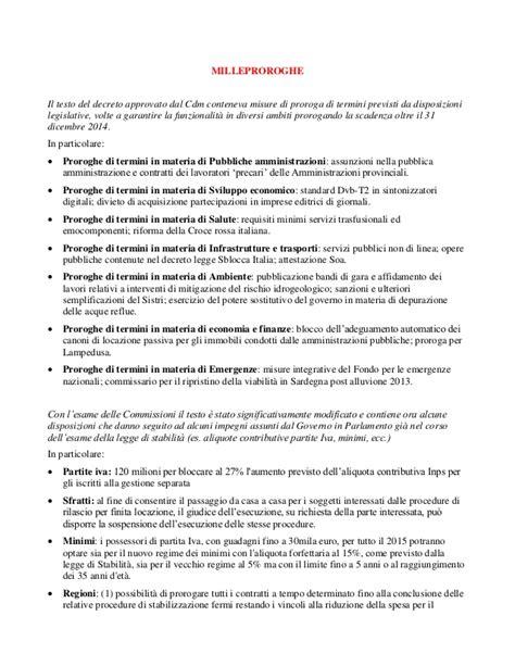Testo Decreto Milleproroghe by Milleproroghe