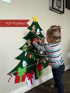 Felt Christmas Tree DIGITAL PATTERN - No Sew DIY Printable ...