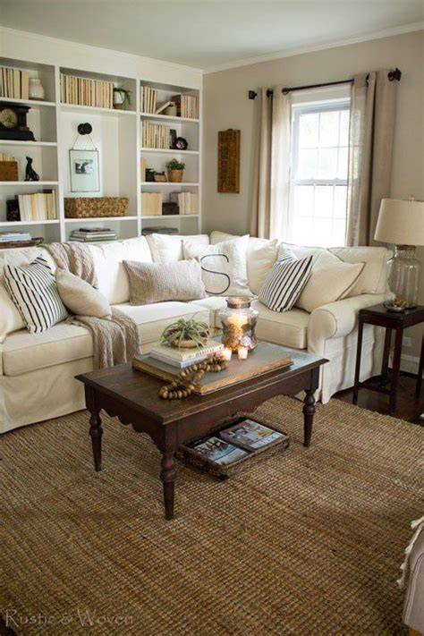 Rustic Vintage Living Room Ideas by Cottage Style Living Room With Pottery Barn Sectional And
