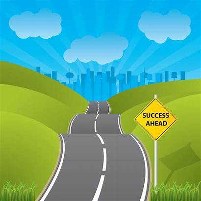 Journey Road Clipart Illustration Cliparts Succes Clip