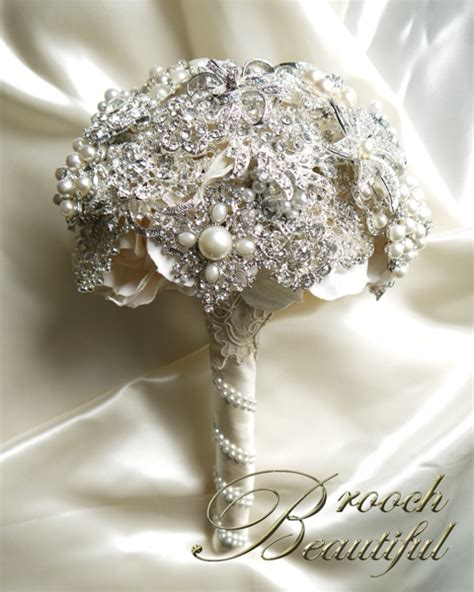 vintage pearl lace brooch bouquet weddingbee photo gallery