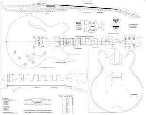 gibson es archtop electric guitar plans full scale