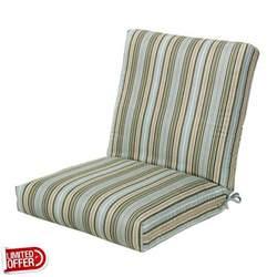 sale cilantro stripe sunbrella outdoor chair cushion