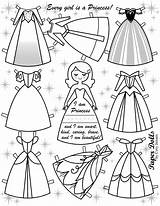 Paper Doll Dolls Frozen Disney Template Coloring Pages Printable Cory Templates Crafts sketch template