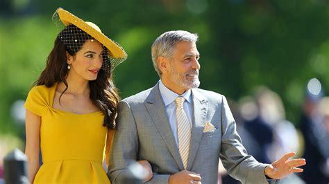 amal clooney shines  canary yellow dress  royal wedding