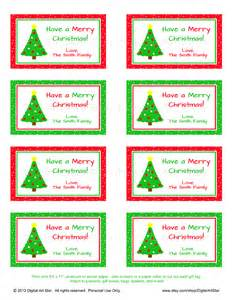 digital art star printable party decor personalized christmas gift tags