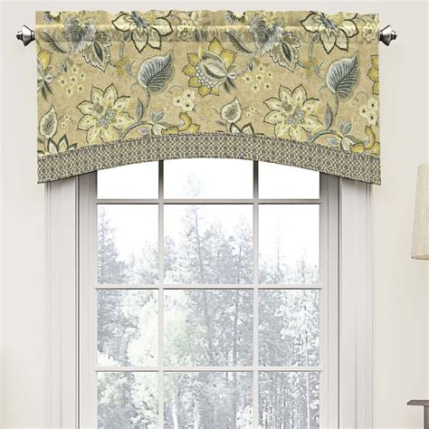 waverly brighton blossom 52 quot arched curtain valance