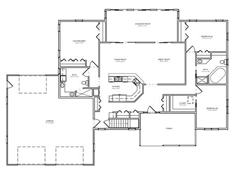 artistic  roomed house plan house plans