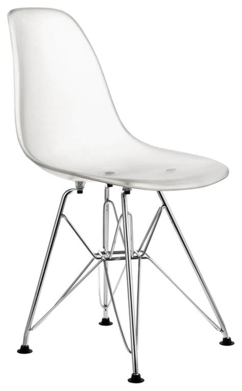 clear plastic side chair for modern dining