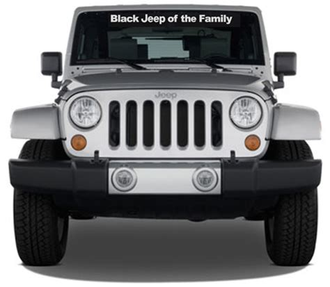 jeep family stickers black jeep of the family windshield decal and 50 similar items