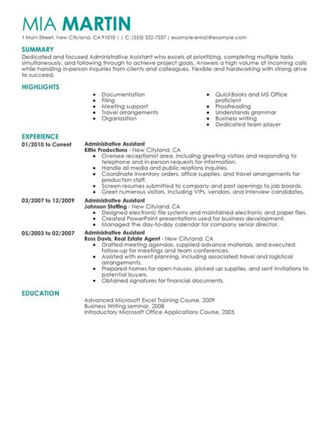 administrative assistant resume unforgettable administrative assistant resume examples to