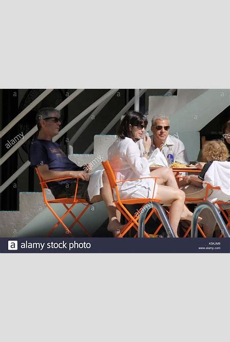 Anthony Bourdain, Eric Ripert and Ariane Bourdain. American chef Stock Photo, Royalty Free Image ...