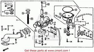 Honda Trx125 Fourtrax 125 1986  G  Usa Carburetor