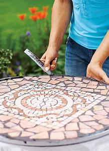 Mosaik Selber Fliesen Auf Altem Tisch : mosaiktisch selbst fliesen basteln ~ Watch28wear.com Haus und Dekorationen
