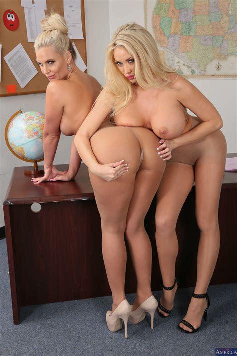 Beautiful Blonde Milf Is Having A Threesome Photos