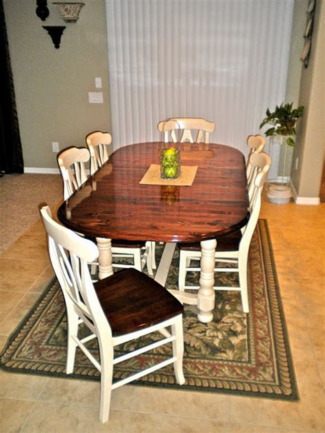 chairs refinishing dining table