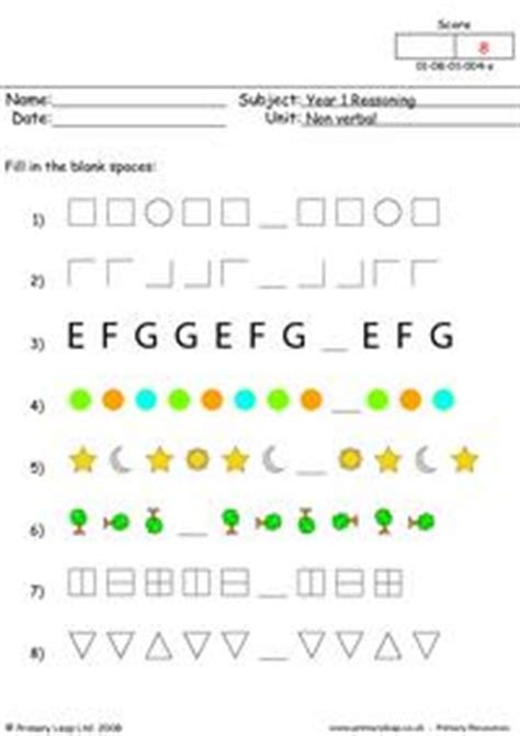 free non verbal printable resource worksheets for kids