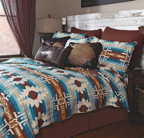 Western Bedding Sets: King Size Earth & Sky Quilt Bed Set