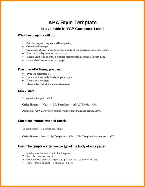 format of an apa paper apa format paper template art resumes