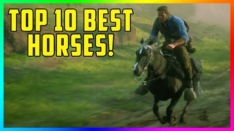 dead redemption fastest rdr2 horses rare most