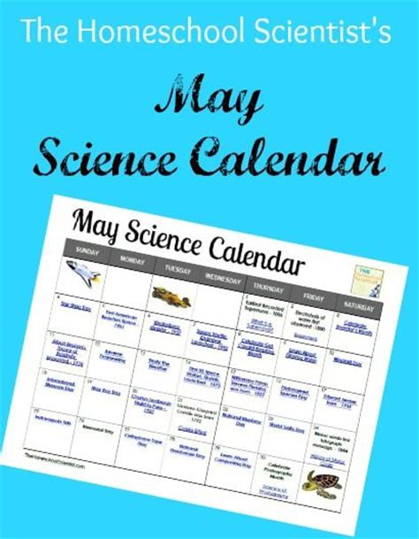 may science calendar lots of great science activities 478 | ea49b169429dff0f1f668f555e5eec58
