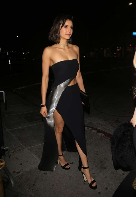 nina dobrev  sexy  golden globes  party hot
