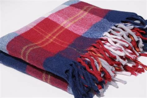 Vintage Red, White & Blue Camp Blanket, Soft Fringed Acrylic Throw W/ Faribo Label How To Make A Patchwork Tie Blanket Design Your Own Personalized Baby Beach Bingo Trailer Clear Storage Bags For Blankets Sew Fleece Ideas What Do Hudson Bay Points Mean Does Solar