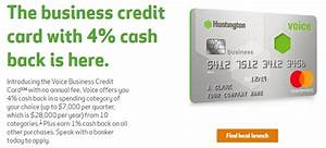 Huntington voice business credit card review earn 4 cash for Business credit card cash back